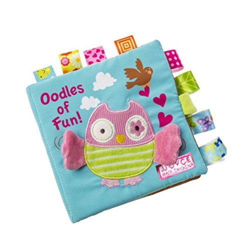 Quner Baby Cloth Book Cute Crinkly Animal Embroidery Cloth Book Baby Intelligence Development Learning Baby Toy Bright Color Soft Book Large 16 X 16cm/6.3 X - No2 Shape