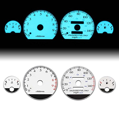 (For Acura Integra GSR/Type-R Manual Transmission MT White Face Dash Cluster Electroluminescence Indiglo Glow Gauge)