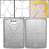 Best Bed Sheet Suspenders - 4pcs Sheet Bed Suspenders Adjustable Crisscross Fitted Sheet Review
