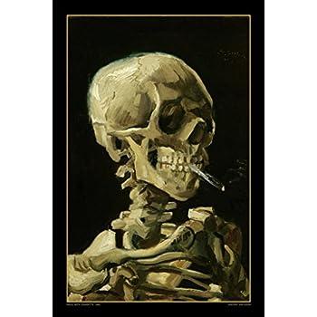 "Poster 24/"" x 36/"" Skull Smoke"
