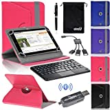 EEEKit 5 in 1 Office Solution Kit for for 8 Inch Tablet,Folio Cover Case,Wireless Bluetooth Keyboard Touchpad,Micro USB OTG Card Reader/Hub and Stylus