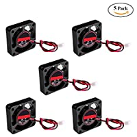 Cooling Fan for 3D Printer HONG111 Makerbot Accessories Extruder Mini Cooling 12V 4010 (5 Pack) 404010mm by HONG111