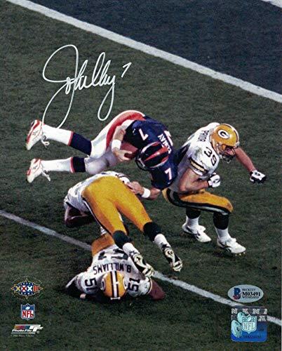 (John Elway Autographed/Signed Denver Broncos 8x10 Photo Helicopter BAS)