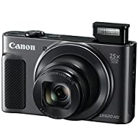 Canon PowerShot SX620 HS Digital Camera (Black) + Transcend 32GB Memory Card + Point & Shoot Camera Case + Card Reader + Card Wallet + LCD Screen Protectors + 5 Piece Cleaning Kit + Complete Bundle by Canon
