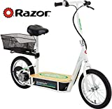 Razor EcoSmart Metro Electric Scooter For Adults - 500W High Torque Motor, Up to 18MPH, 16' Air Filled Tires, Rear Wheel Drive, Height Adjustable Seat and Detachable Luggage Basket, Bamboo Deck