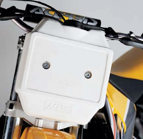 Acerbis Front Auxiliary Fuel Tank - 10in. x 9.5in. x 4.75in. - White - 1.3 gal. , Color: White 2044030002