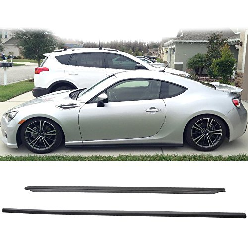 Side Skirts Fits 2013-2017 Scion FRS Subaru BRZ GT86 FT86 | Black PU Side skirt Rocker Moulding Air Dam Chin Diffuser Bumper Lip Splitter by IKON MOTORSPORTS| 2014 2015 2016