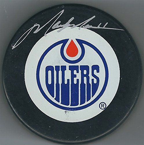 Autographed Mark Messier Edmonton Oilers Hockey Puck with Steiner Hologram