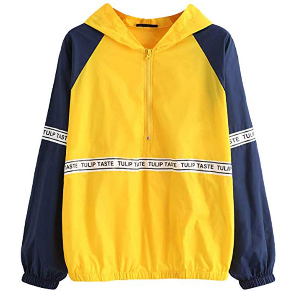 Chartsea Women Long Sleeve Casual Hooded Sweatshirt Top Blouse (S)