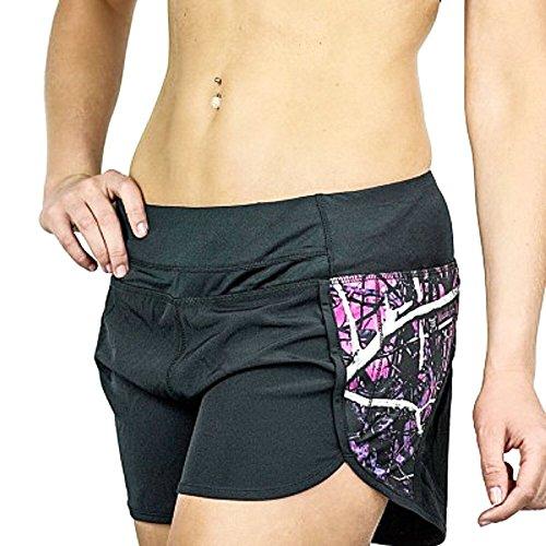 Muddy Girl Moonshine Camo Workout Active Athletic Gym Shorts Jp Black Purple Pink