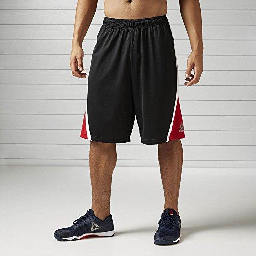 Reebok Men's Bball Shorts, Black, Large