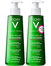Vichy Anti-Acne Facial Cleanser, Normaderm Purifying Cleansing Gel for Acne-Prone Skin, with Salicylic Acid, Oil-free and Soap-Free, Non-Comedogenic, Hypoallergenic, Dermatologist Recommended, Paraben-Free