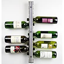 chendongdong New Stainless Steel Bar Wine Rack Wine Shelf Wall Mounted Holder 12 Bottles