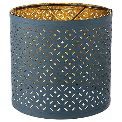 IKEA 903.407.88 Nymö Lamp Shade, Blue, Brass Color