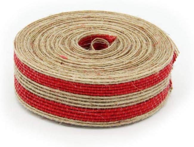 Rojo EXCEART 10M 2.5Cm Cinta de Arpillera Cinta de Bricolaje Cinta de Embalaje Cinta Artesanal para Paquete de Regalo de Bricolaje
