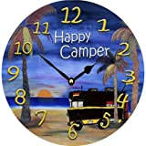 Happy Camper RV in Sunset Beach Wall Clock Review