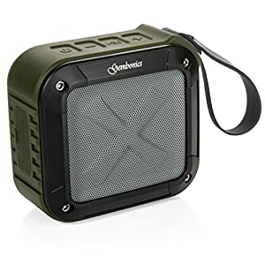 Wireless Bluetooth 4.1 Speaker by Gembonics, Best Shockproof Waterproof Shower Speakers with 10 Hour Rechargeable Battery Life, Powerful 5W Audio Driver, Pairs with All Bluetooth Devices (Green)