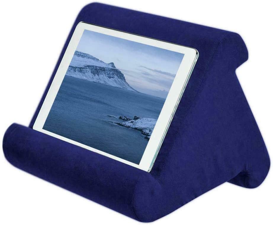 232426cm, Grey Babayhouse Tablet Stand Pillow Holder Portable Multi-Angle Soft Pillow Lap Stand for iPad eReader Book Magazine