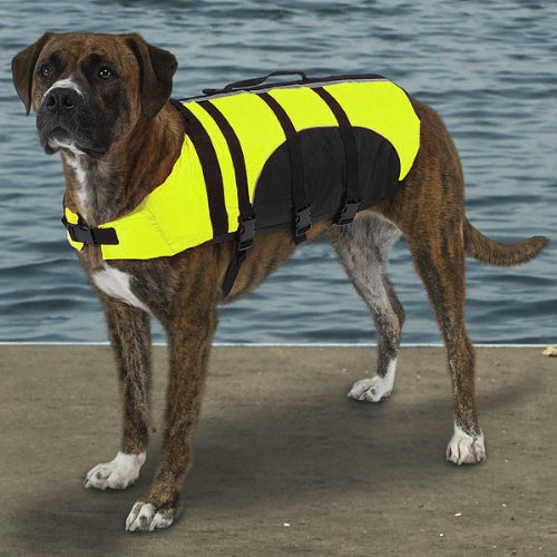 Aquatic Pet Preserver Dog - Guardian Gear Aquatic Pet Preserver Lrg Yellow