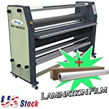 """Ving 63"""" New Type Full - auto Wide Format Hot/Cold Laminator Large Format Laminator with Free Cold Laminating Film -US Stock"""
