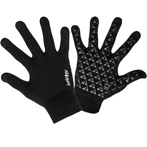 Knit Winter Gloves, Windproof Sport Touchscreen Gloves For Men And (Lightweight Running Gloves)