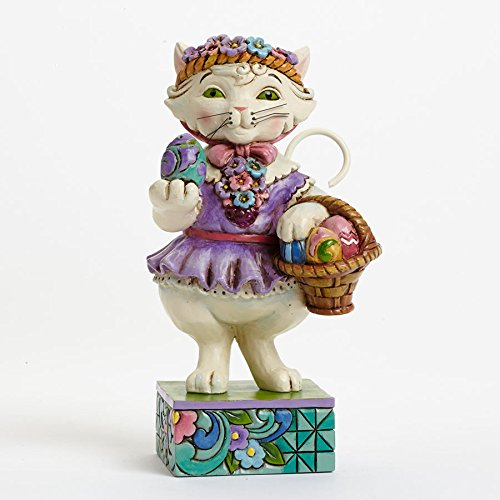 Jim Shore Heartwood Creek Purrfect Day For An Egg Hunt-Pint-Sized Easter Cat Figurine (Jim Cat Shore Tall)