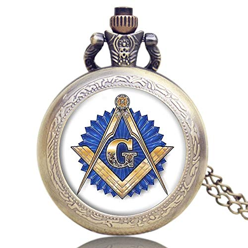 Men's Pocket Watch, Masonic Freemasonry Bronze Classic for sale  Delivered anywhere in Canada