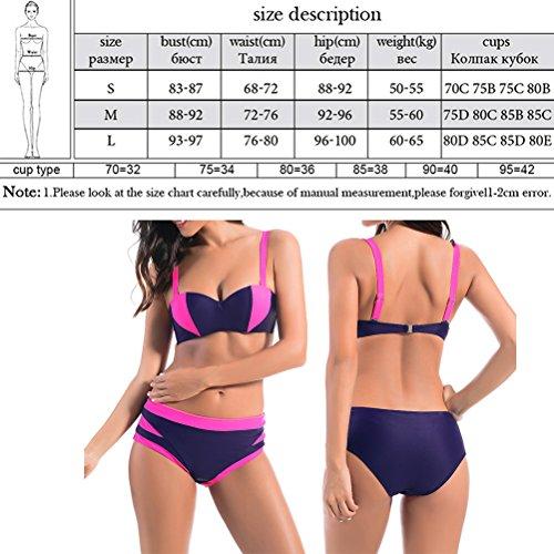 Zhhlinyuan Womens Quick-dry Casual Swimwear 2 Piece Fashion Bikini Set Swimsuit FD81673 Pink