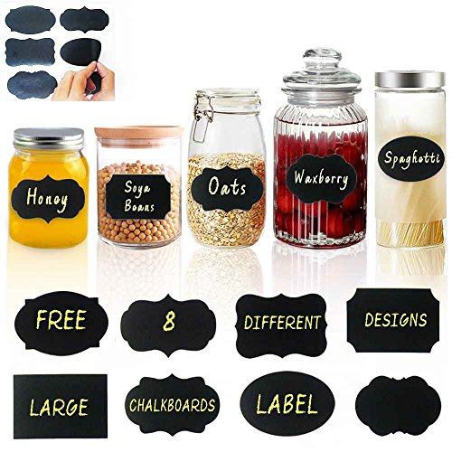 Efoxmoko 12 Food Labels For Party Mini Chalkboard Signs
