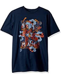 Men's Short Sleeve Floral Panel Graphic Tee