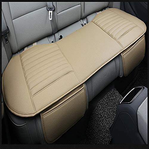 Single Dani Leather Charcoal Half Package Front Seat Cushion Without Backrest-Beige