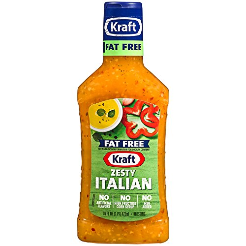 Kraft Free Zesty Italian Dressing (16 oz Bottle)