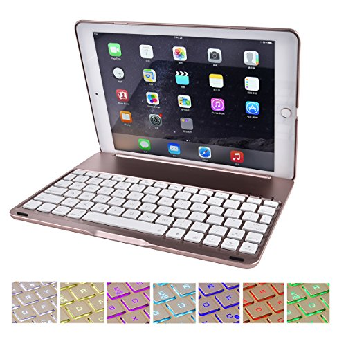 SMICK Ultra-Slim iPad Case iPad Pro 9.7 Keyboard Case with 7 Colors LED Backlit Bluetooth Keyboard for Ipad Pro 9.7 Inches - Apple Wireless Keyboard Kit
