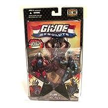 G.I. JOE Hasbro 25th Anniversary 3 3/4 Wave 8 Action Figures Comic Book 2Pack Destro vs. Shockblast