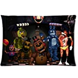 "Fashionable Custom Animatronics at Freddy's Five Nights Zippered Pillow Cases 20""x 30""(Twin sides)"