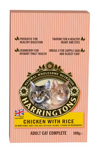 Harringtons Complete Cat Chicken with Rice 500 g (Pack of 8)