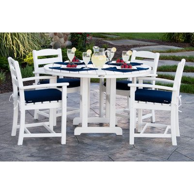 5-Pc Eco-friendly Dining Set (4 Polywood Seat)