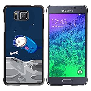 Impact Case Cover with Art Pattern Designs FOR Samsung ALPHA G850 Funny Flying Space Dog Betty shop