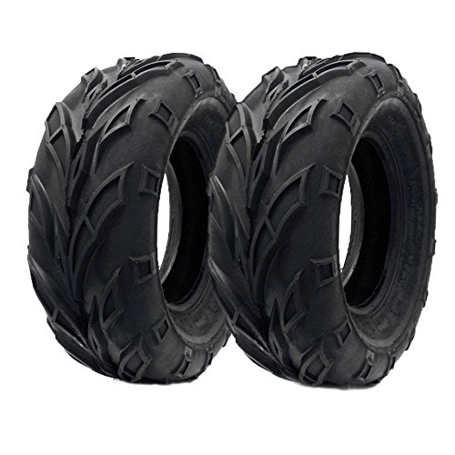SET OF TWO: ATV Tubeless Tire 21x7-10 (175/80-10) Front or Rear All Terrain ATV UTV Go Kart - P133 by MMG
