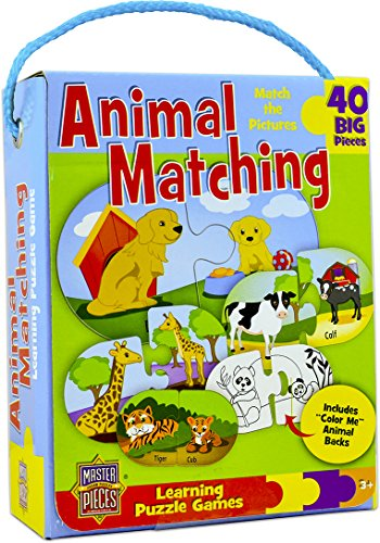 MasterPieces Learning Game of Animal Matching - 40 Pairing Piece Kids Puzzle
