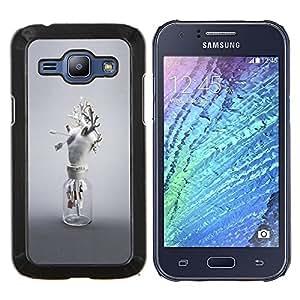 """Samsung Galaxy J1 / J100 , JackGot - Impreso colorido protector duro espalda Funda piel de Shell (Corazón Anatomía Arte Moderno Blanco Amor"""")"""