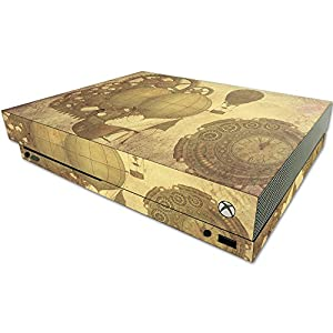 MightySkins Skin Compatible with Microsoft One X Console Only – Steam Punk Paper | Protective, Durable, and Unique Vinyl Decal wrap Cover | Easy to Apply, Remove, and Change Styles | Made in The USA