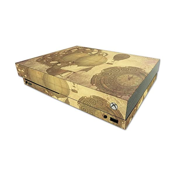 MightySkins Skin Compatible with Microsoft One X Console Only - Steam Punk Paper | Protective, Durable, and Unique Vinyl Decal wrap Cover | Easy to Apply, Remove, and Change Styles | Made in The USA 3