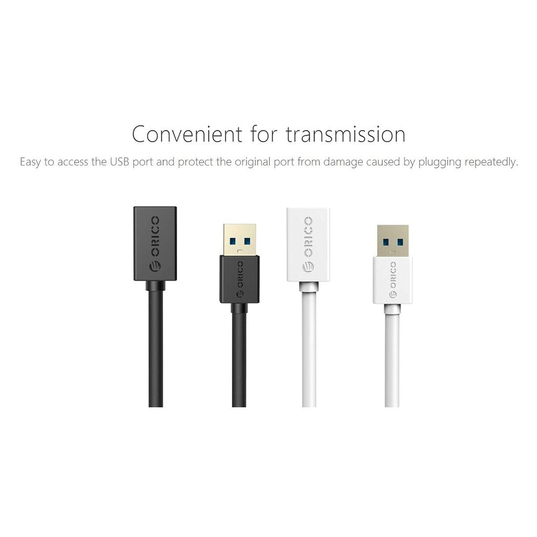 Color : White TONGZHENGTAI USB Male and Female Connector Data Cable 1.5M Charging Cable