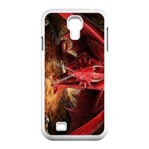 JCCFAN DIY Red Dragon Pattern Shell Phone For Samsung Galaxy S4 i9500 Case [Pattern-1]