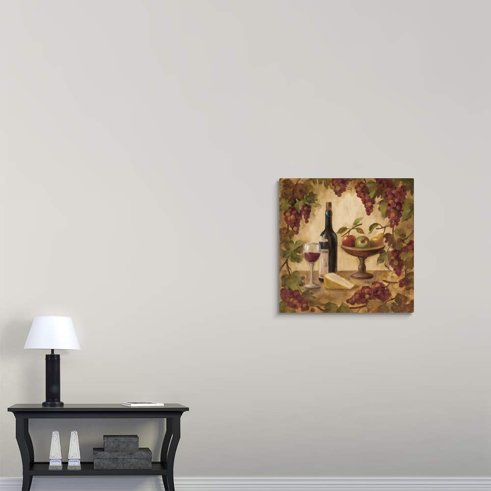 Wine and Cheese II Canvas Wall Art Print, 30 x30 x1.25