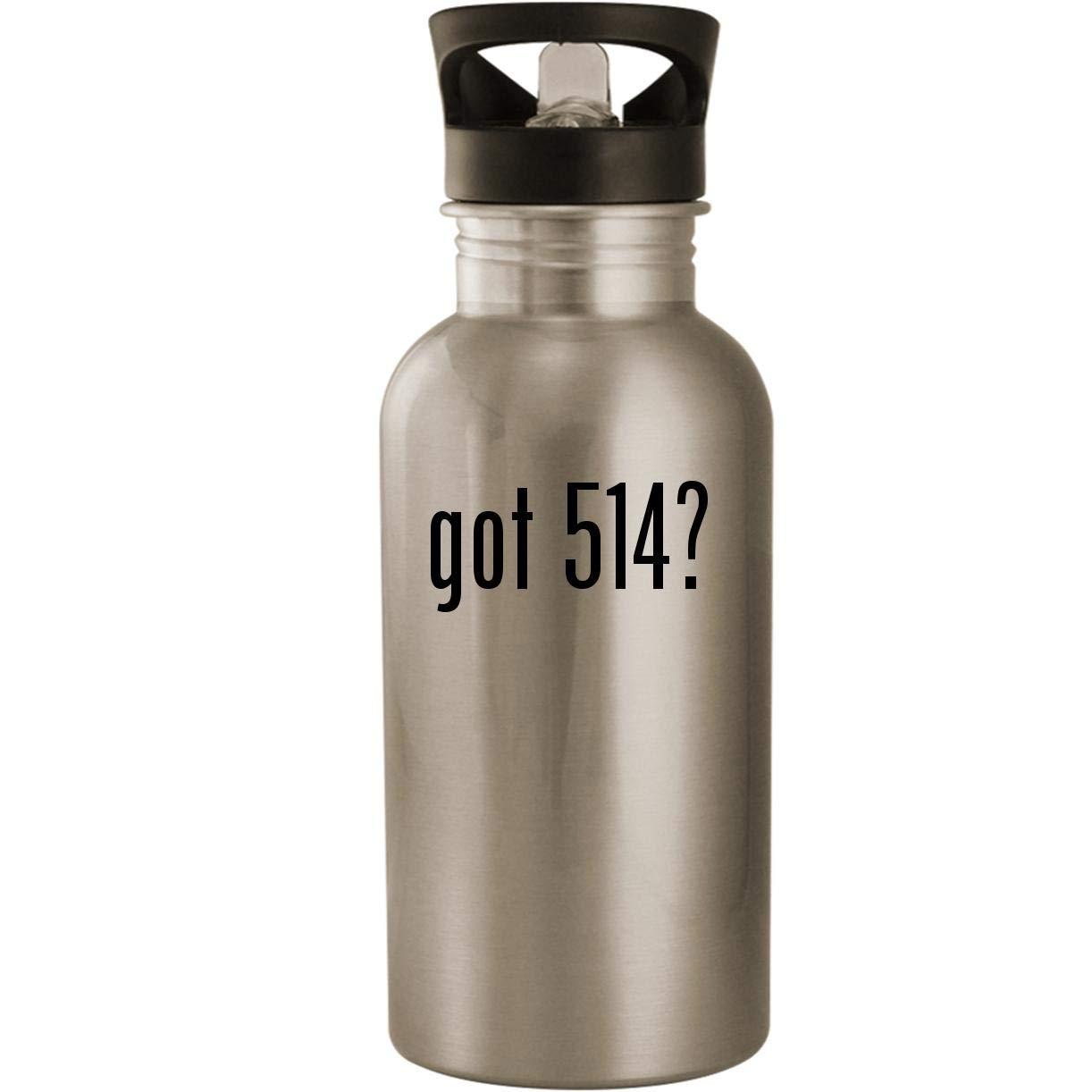 got 514? - Stainless Steel 20oz Road Ready Water Bottle, Silver