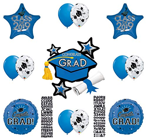 Personalize! Class of 2019 Graduation Party Balloons Decoration Supplies Graduate -