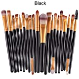 Makeup Brush Set,Han Shi 2017 Fashion 20 pcs 20pcs Make up Brushes Kits Toiletry Kit Clearance (M, Black)