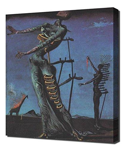 (Salvador Dali Burning Giraffe - Canvas Art Print Reproduction)